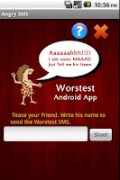 Screenshot of Worstest App : Angry SMS