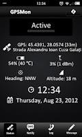 Screenshot of GPSMon - GPS Tracking Monitor