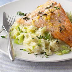 Salmon With Leeks & Parsnip Mash