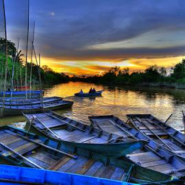 firefly sanctuary by Smith Fotografi - Transportation Boats ( sunset, selective color, pwc )
