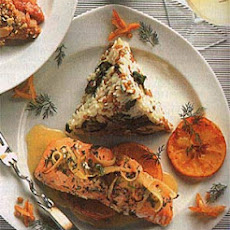 Roasted Salmon with Orange-Herb Sauce