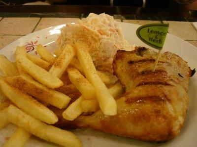1/4 Chicken with Coleslaw & Old Style Chips @ Nando's - Malaysia Food & Restaurant Reviews