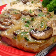 Pork Chops With Caramelized Onion-mushroom Sauce