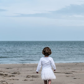 Alone... by Dorothea Boonstra - Babies & Children Children Candids ( child, girl, romantic, beach, emotion )