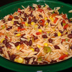 Orzo and Black Bean Salsa Salad
