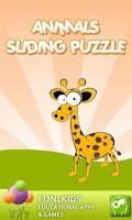 Screenshot of Animals Sliding Puzzle Game