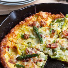 Asparagus and Double Smoked Bacon Popover