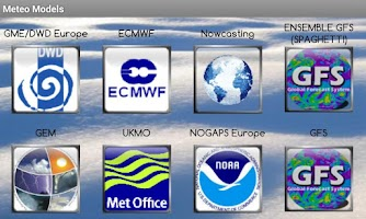 Screenshot of Weather Models Europe