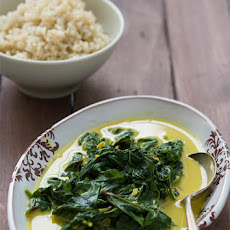 Sweet Potato Greens in Coconut Cream