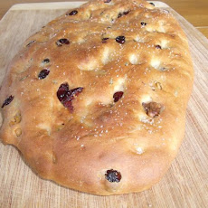 Rosemary Walnut Cranberry Focaccia