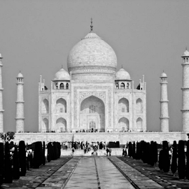 Taj Mahal by Subir Mukherjee - Buildings & Architecture Statues & Monuments ( love, history, taj mahal, wonder of the world, achitecture )