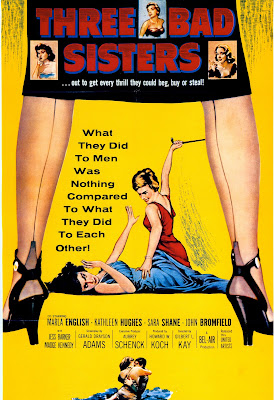 Three Bad Sisters (1956, USA) movie poster