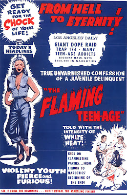 The Flaming Teen-Age (1956, USA) movie poster
