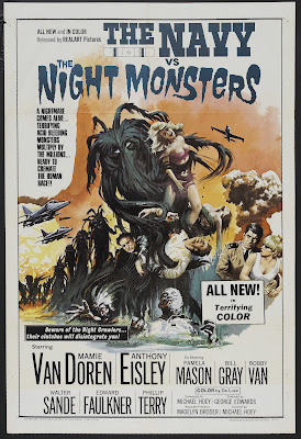 The Navy vs. the Night Monsters (1966, USA) movie poster