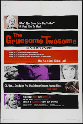 The Gruesome Twosome (1967, USA) movie poster
