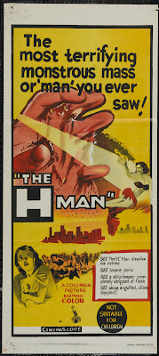 The H-Man (Bijo to Ekitainingen / Beauty and the Liquidman) (1958, Japan) movie poster
