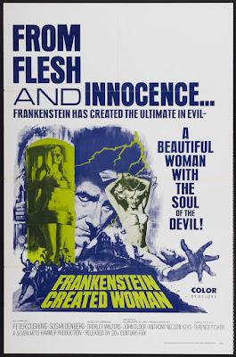 Frankenstein Created Woman (1967, UK) movie poster