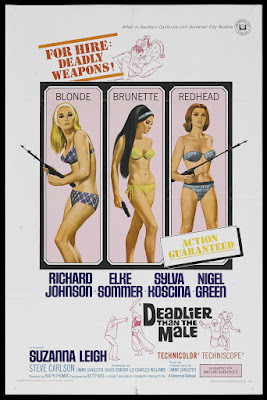 Deadlier Than the Male (1967, UK) movie poster