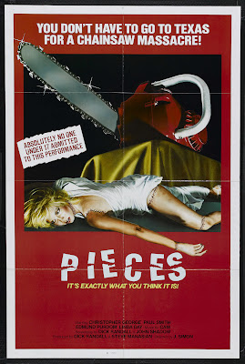 Pieces (Mil gritos tiene la noche / One Thousand Cries Has the Night) (1982, USA / Spain) movie poster
