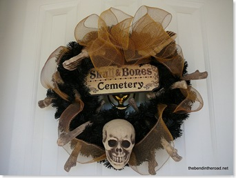 Skull and Bones Wreath
