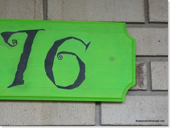 House Numbers Halloween Style