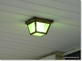Green Porch Lights