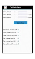 Screenshot of Emi Loan Calculator