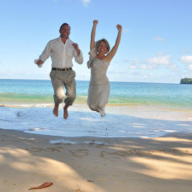 Jumping for Joy  by Romana Mair - People Couples (  )