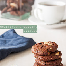 Quadruple Chocolate Cookies