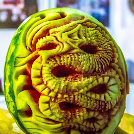 watermelon sculpture by Elmer Magdosa - Digital Art Things ( watermelon sculpture )