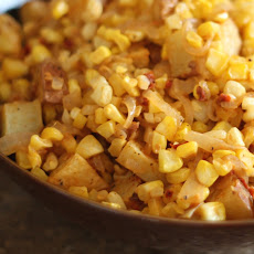 Chipotle Corn and Caramelized Onion Potato Salad