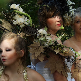 Generations by Beth Schneckenburger - People Family ( fashion, generations, gowns, daughter, garden )