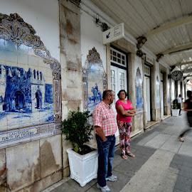 Santarém, Portugal  - train station by Maria Ferreira - City,  Street & Park  Street Scenes ( station train )