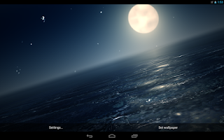 Screenshot of Ocean At Night Live Wallpaper