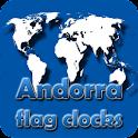 Andorra flag clocks