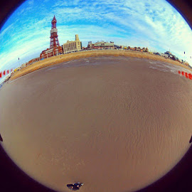 by Niki Cooke - City,  Street & Park  Historic Districts ( blackpool, selfie, fisheye, aerial, drone, bebop, beach, blackpooltower, quadcopter, flight, ardrone, birdseye )