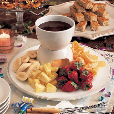 Chocolate and Coconut Cream Fondue