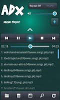 Screenshot of ADX Music Player