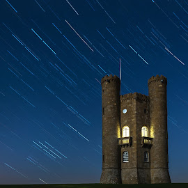 Tower Star Trails by David Dean - Buildings & Architecture Public & Historical ( tower, d610, star trails, nikon, cotswolds, broadway )