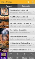 Screenshot of Tattoo Magazine Interactive