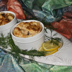 Leek and Salmon Souffle