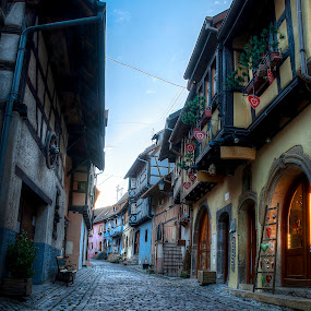 HDR à Eguisheim 2 by Pierre Husson - City,  Street & Park  Historic Districts ( beautiful village, hdr, old town, france, alsace )