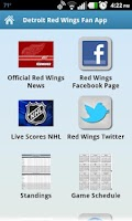 Screenshot of Detroit Red Wings Fan App