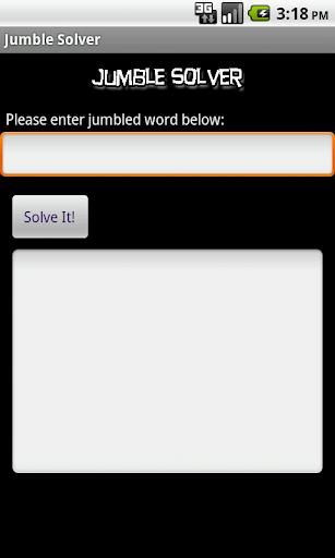 Jumble Solver Plus