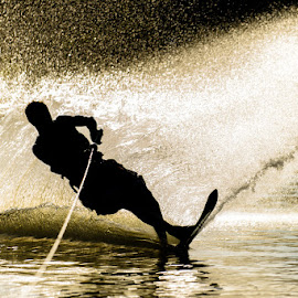 Wet Silhouette by Jimmy Rash - Sports & Fitness Watersports ( water, water ski, water sports, silhouette, sports, wet )
