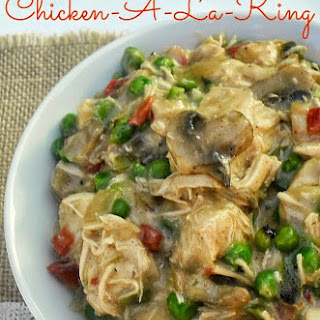 CHICKEN A LA KING {LOW-FAT}