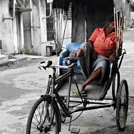 Rickshawala by Anindya Bhattacharjee - Transportation Other ( lz20, lumix, rickshaw, panasonic )