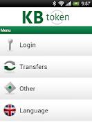 Screenshot of KB token