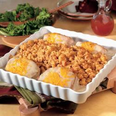Pork Chops & Stuffing Bake