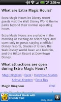 Screenshot of Disney World Park Hours (Free)